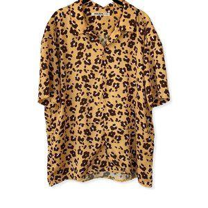 Nine Nuts Nissy Men's Leopard Print SS Button Tee